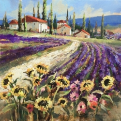 Brent-Heighton-2020-Lavender-Fields-Of-Provence-36x36-6500.00-fr.